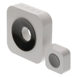 König Wireless Doorbell Set Battery-powered 90 dB White / Gray