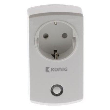 König Smart Home Plug-In Stopcontact - Schuko / Type F (CEE 7/7)