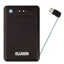 Draagbare Powerbank Lithium-Polymeer 2500 mAh Micro-USB Zwart
