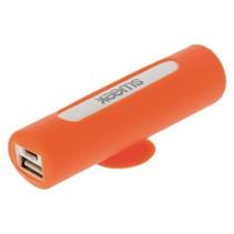 Draagbare Powerbank Lithium-Ion 2500 mAh USB Oranje