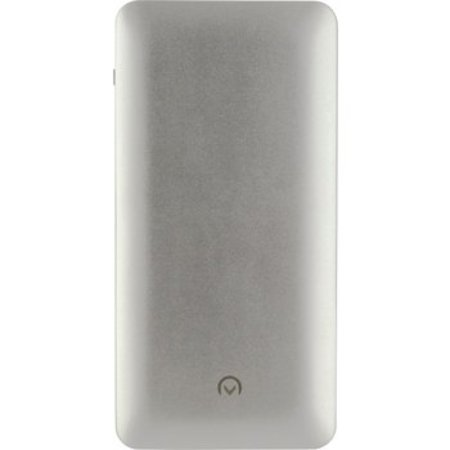 Mobilize Tragbare Powerbank 10000 mAh USB / Micro-USB Silber / Silber