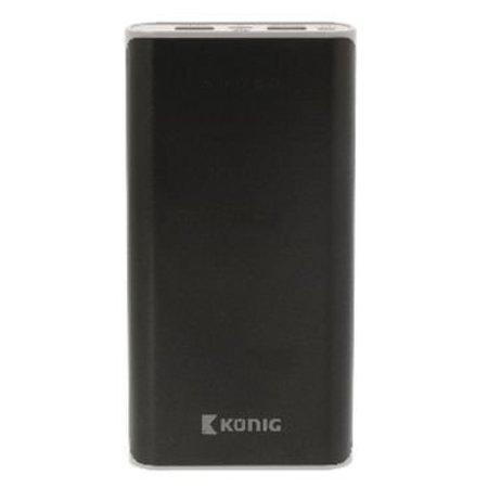 König Draagbare Powerbank Lithium-Ion 20000 mAh USB Zwart