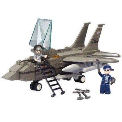 Sluban Bouwstenen Army Serie Gevechtsvliegtuig
