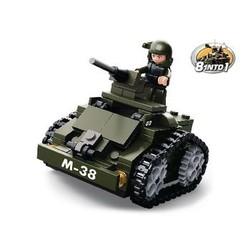 Sluban Bausteine Army Serie Pantzer Wagen