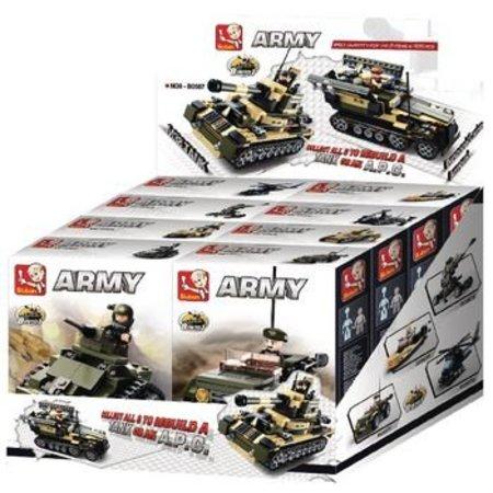 Sluban Bouwstenen Army Serie 8-in-1-Display