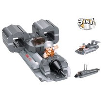 Blocks Aircraft Carrier Series Jetboat 3-in-1