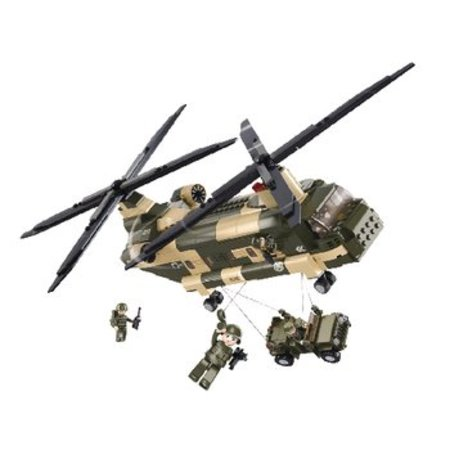 Sluban Bouwstenen Army Serie Transporthelikopter
