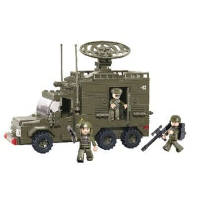 Sluban Bouwstenen Army Serie Radarvrachtwagen
