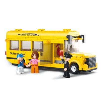 Sluban Bouwstenen Town Serie Schoolbus
