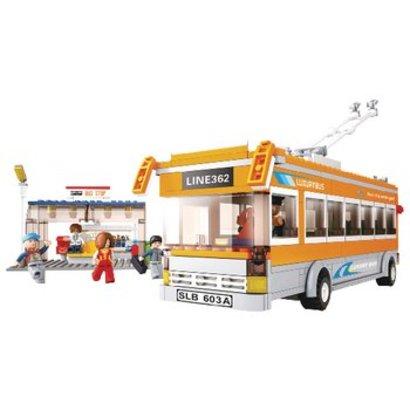 Sluban Bouwstenen Town Serie Trolleybus