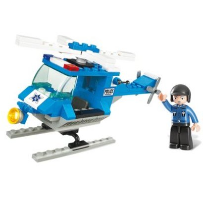 Sluban Bouwstenen Town Serie Politiehelikopter