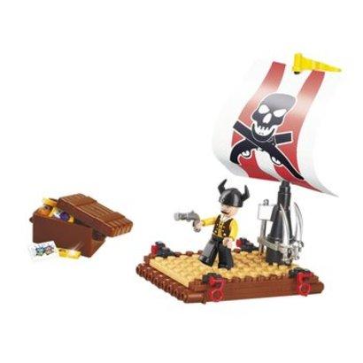 Sluban Bouwstenen Pirate Serie Piratenvlot