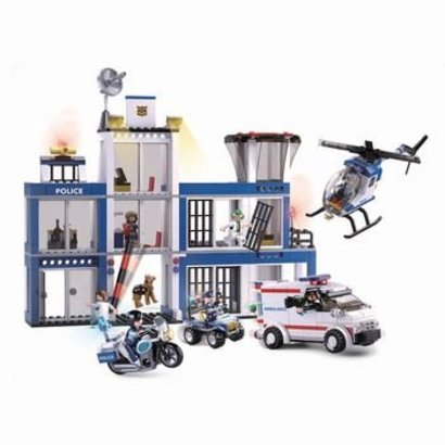 Sluban Bouwstenen Police Serie Politiebureau
