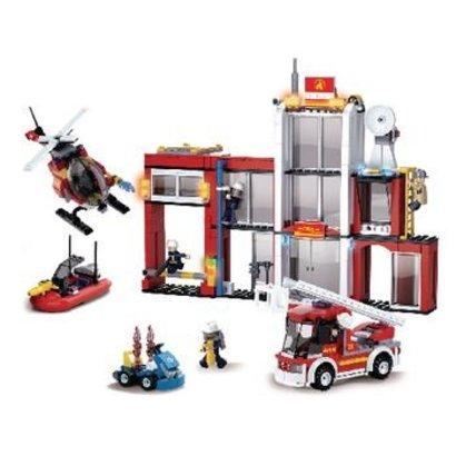 Sluban Bouwstenen Fire Serie Brandweerkazerne