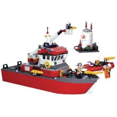 Sluban Bouwstenen Fire Serie Brandweerboot