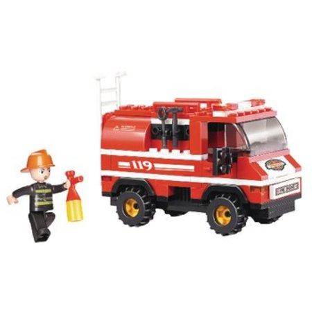 Sluban Bouwstenen Fire Serie Brandweerwagen