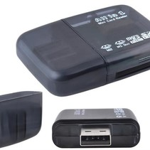 Mini USB  Card Reader All In One  - kaartlezer voor o.a. Micro SD &  SD