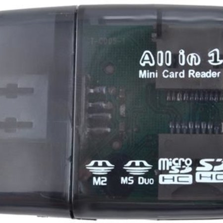 Geeek Mini USB  Card Reader All In One  - kaartlezer voor o.a. Micro SD &  SD