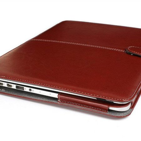 Geeek Leather Slim Sleeve voor MacBook Pro 15 inch (2016) - Bruin