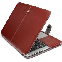Leather Slim Sleeve voor MacBook Pro 15 inch (2016) - Bruin