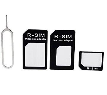 Simkaart Adapter Set Micro en Nano Sim