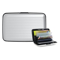 Aluminium Brieftasche Kreditkarteninhaber Pass Halter RFID-Block
