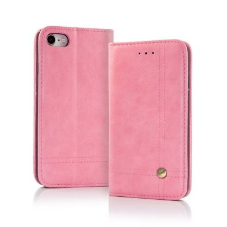 Geeek Smart Prestige Wallet Case voor iPhone X / XS Roze