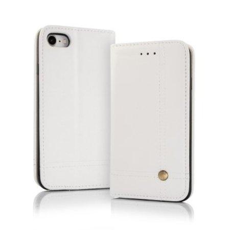 Geeek Smart Prestige Wallet Case voor iPhone 7 / 8 Wit