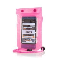 """Geeek Universal Waterproof Case 5.5 """" Pink"""