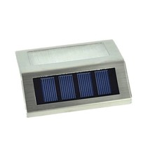 Solar LED- Außenbeleuchtung aus Edelstahl
