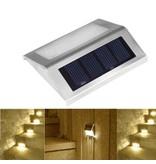 Geeek RVS Solar LED Buitenlamp Verlichting Tuinlamp Trapverlichting