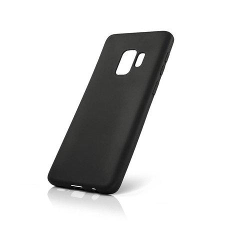 Geeek Siliconen TPU Hoesje voor Samsung Galaxy S9 - Mat Zwart