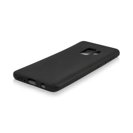 Geeek Mattschwarz Silikon TPU Case Samsung Galaxy S9 Plus