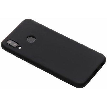 Geeek Siliconen TPU Hoesje voor Huawei P20 Lite - Mat Zwart
