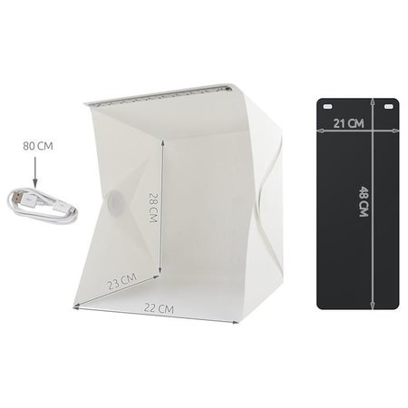 Geeek Foldable Photo Studio Photo Tent with LED Lighting
