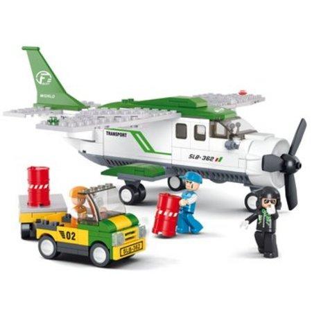 Sluban Bouwstenen Aviation Serie Vrachtvliegtuig