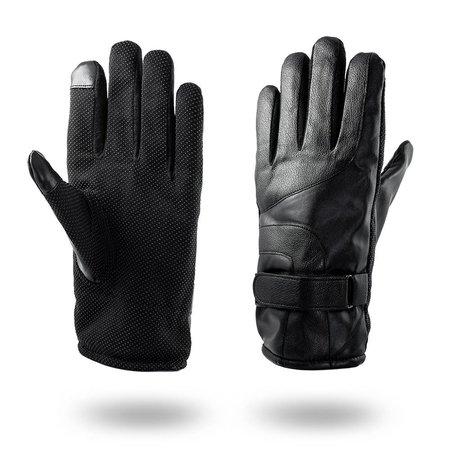 Geeek Handschoenen voor Smartphone / Touchscreen - Kunstleer - Zwart