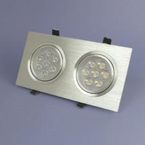 Dubbele LED Inbouwspot 7 Watt Warm Wit Dimbaar