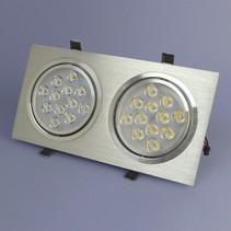 Dimmbare Dual-LED Einbau 12 Watt – Warmweiß