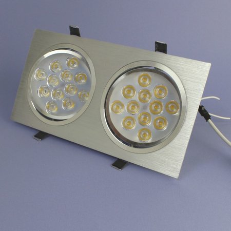 Geeek Dimmbare Dual-LED Einbau 12 Watt – Warmweiß