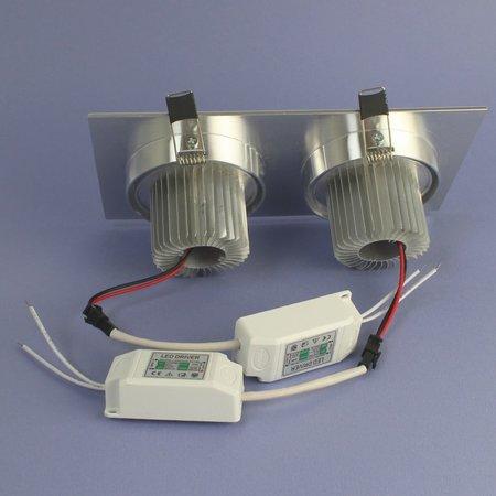 Geeek Dubbele LED Inbouwspot 7 Watt Warm Wit Dimbaar