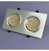 Geeek Dual LED Recessed 7 Watt Warm White Dimmable