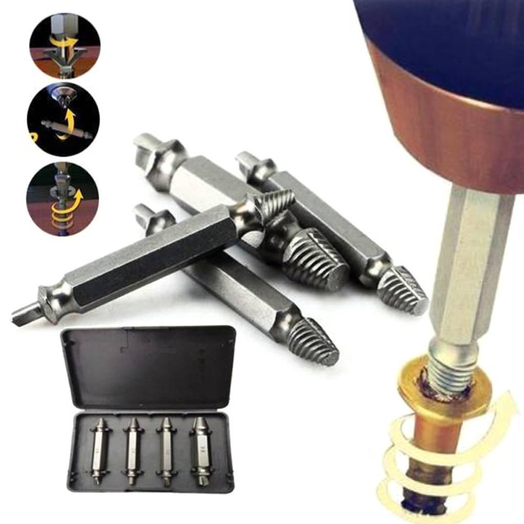 Met de schroefverwijderaar schroef uitboorset hoef je niet bang te te zijn dat je schroeven of bouten met een ...