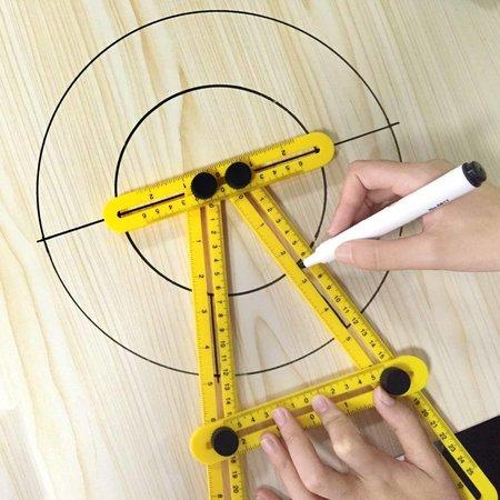 Geeek Hoekliniaal -  Vierhoekig Meetinstrument - Multi-hoeklineaal - Duimstok