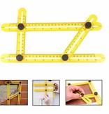Geeek Hoekliniaal -  Vierhoeking Meetinstrument - Multi-hoeklineaal - Duimstok