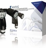 König Outdoor lamp with Motion Sensor and Integrated Camera