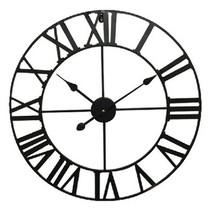 Metal Wall clock 60 cm Analog Black