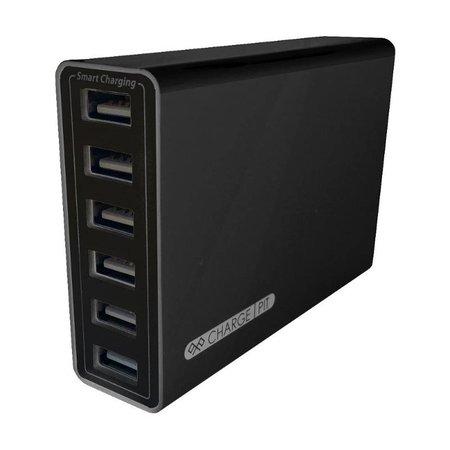 Kram Kram Charge Pit Black met Poul Pava Print 6 poort USB Laadstation Zwart