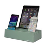 Kram Kram Charge Pit Mint Green - 6 poort USB Laadstation Mintgroen