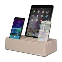 Kram Charge Pit Tea Rose - 6 port USB Charging Station Pink